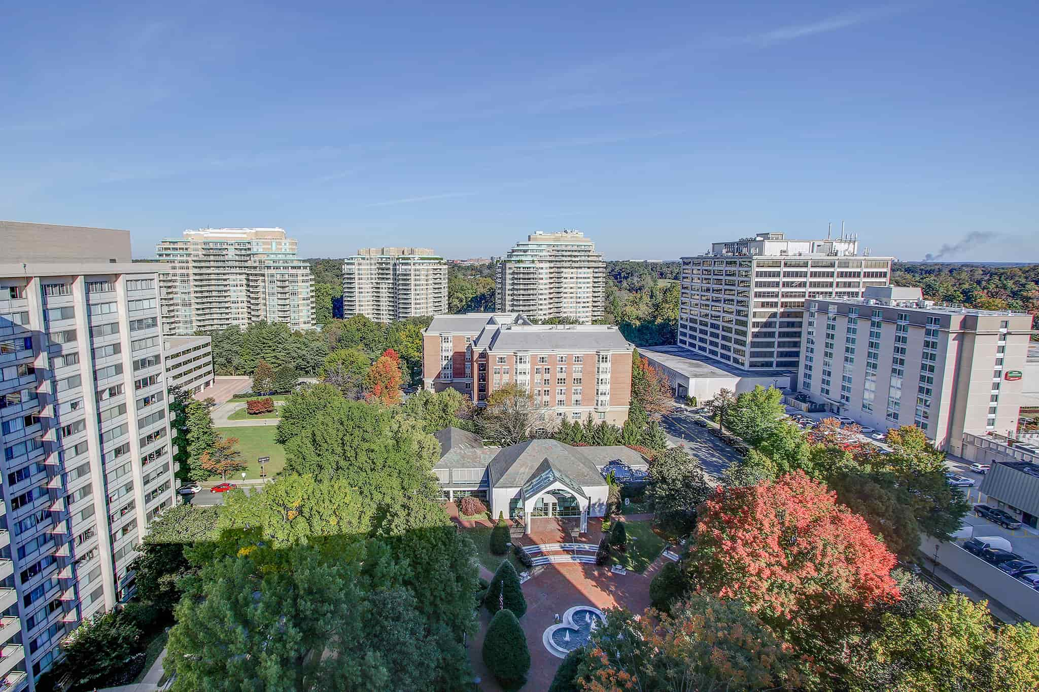 Rooftop view of Chevy Chase, MD