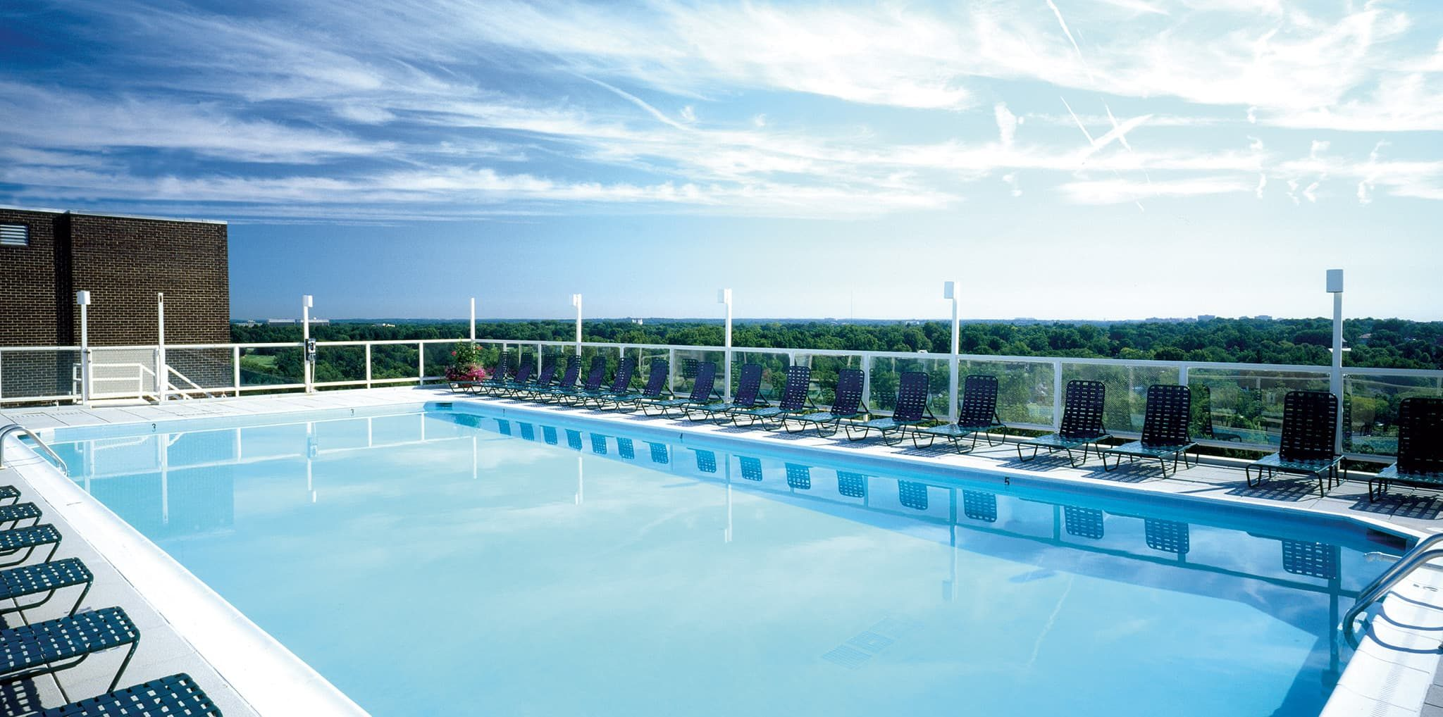 Rooftop pool at The Highlands of Chevy Chase